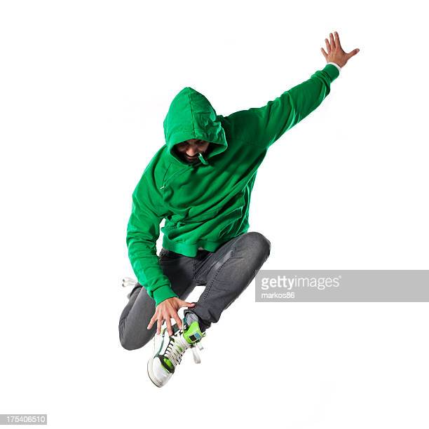 jumping young  dancer - breakdancing stock photos and pictures