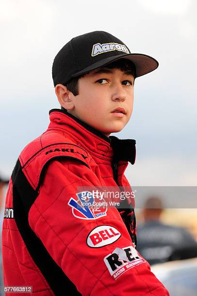 Chase Elliott Ford Fusion driver before the Watermelon 100 American Speed Association RC Cola/MoonPie Southeast Asphalt Tour Late Model race at...