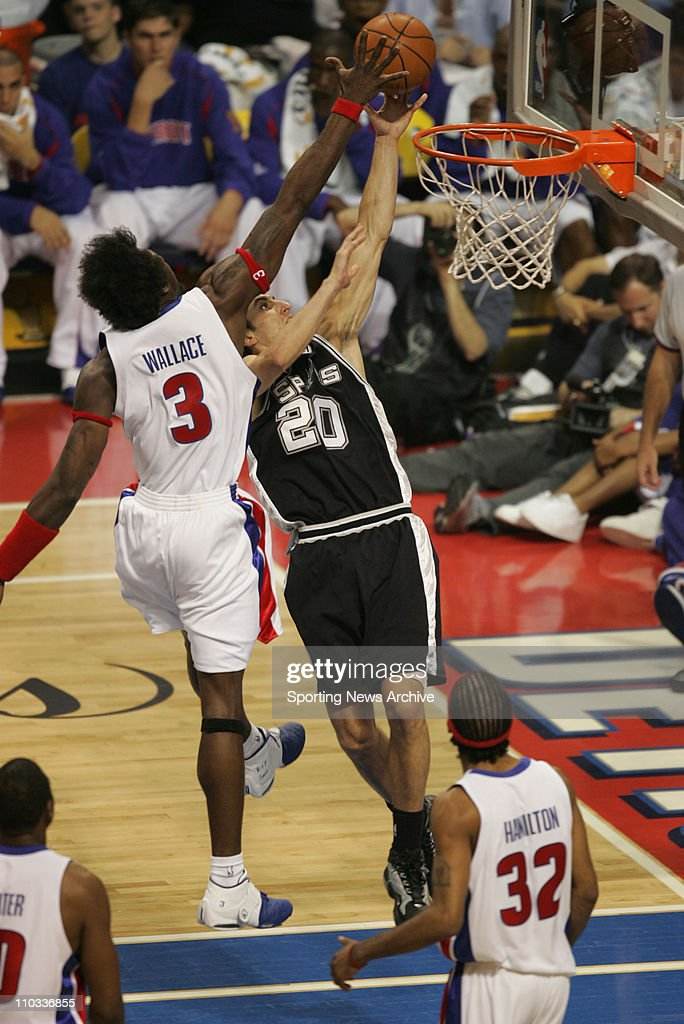 NBA Finals: Pistons vs Spurs - Game 3 : News Photo