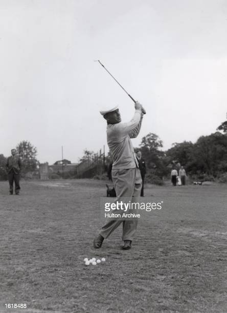 Ben Hogan warms up for his Canada Cup match Mandatory Credit Allsport Hulton/Archive