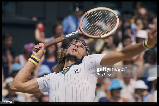Bjorn Borg of Sweden in action during the Wimbledon Championships at the all England club in London Mandatory Credit Allsport UK