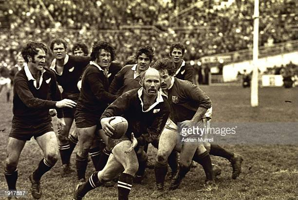 Scrum half Sid Going of the New Zealand All Blacks makes a break during the first test match during the Lions tour of New Zealand in Wellington New...