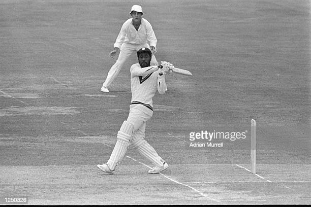 Viv Richards in action during the 1979 Cricket World Cup Final between the West Indies and England at Lords Mandatory Credit Adrian Murrell/Allsport...