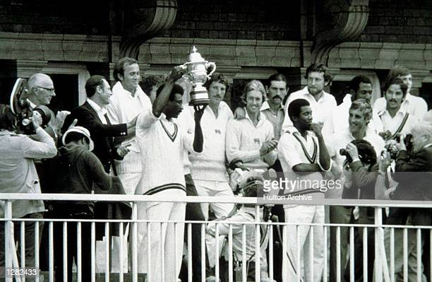 West Indies captain Clive Lloyd lifts the World Cup after beating England in the final at Lords in London Mandatory Credit Allsport Hulton/Archive
