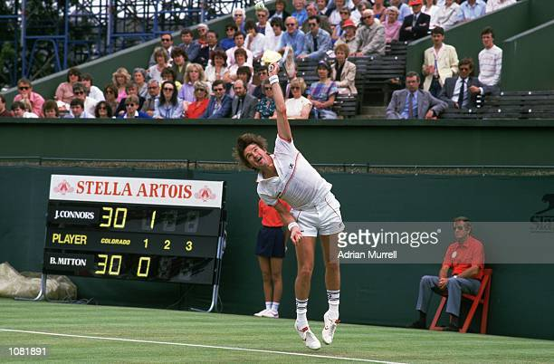 Jimmy Connors of the USA in action during the Stella Artois Championships held at the Queens Club in London Mandatory Credit Adrian Murrell /Allsport
