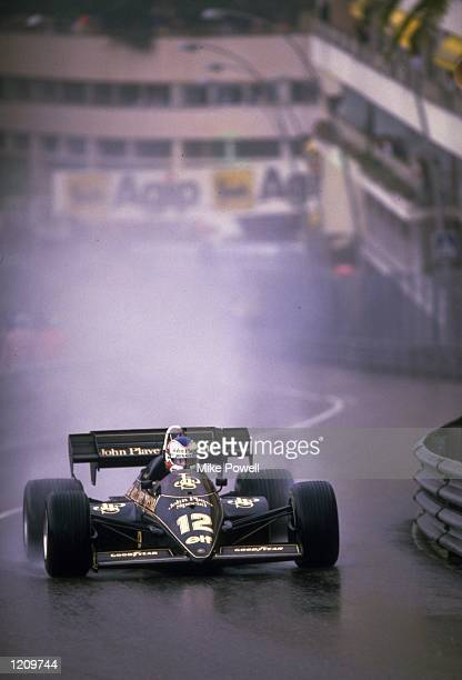 Lotus Renault driver Nigel Mansell in action during the Formula One Monaco Grand Prix in Monte Carlo. \ Mandatory Credit: Mike Powell /Allsport