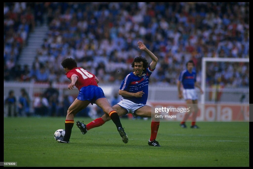 Michel Platini of France : Nieuwsfoto's