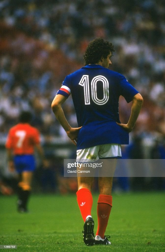 Michel Platini of France : News Photo