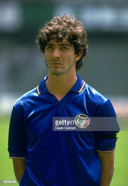 Portrait of Paolo Rossi the Italian Centre Forward during a Summer tour of Mexico Mandatory Credit David Cannon/Allsport