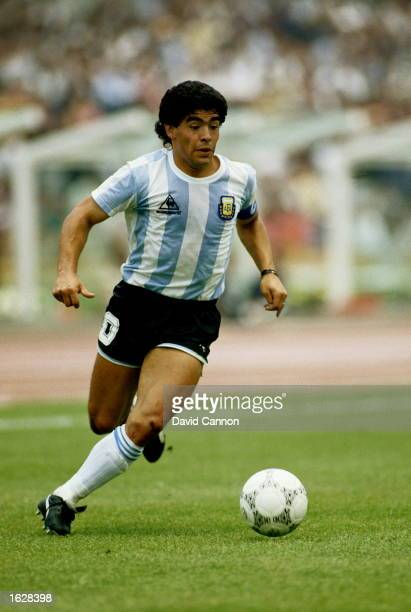 Diego Maradona of Argentina in action during the World Cup match against South Korea in Mexico City Argentina won the match 31 Mandatory Credit David...