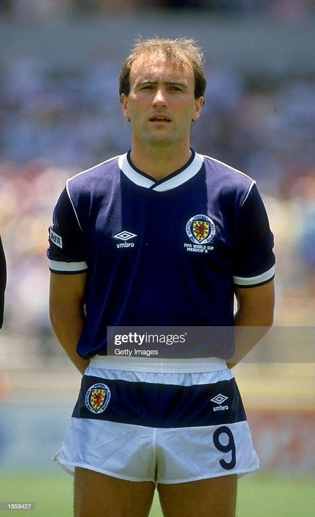 Eamonn Bannon of Scotland stands for the National Anthem before their World Cup match against West Germany played at La Corregidora Stadium in Toluca, Mexico. West Germany won the match 2-1. \ Mandatory Credit: Allsport UK /Allsport
