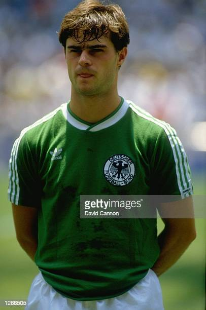 Portrait of Thomas Berthold of West Germany before the World Cup final against Argentina at the Azteca Stadium in Mexico City Argentina won the match...