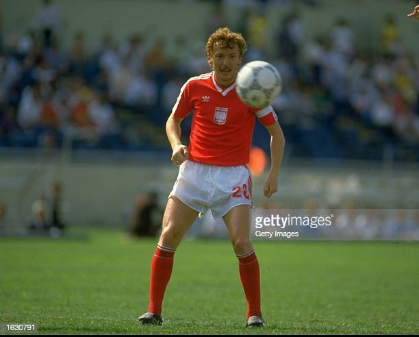Zbigniew Boniek of Poland in action during the World Cup match against England at the Universitario Stadium in Monterrey Mexico England won the match...