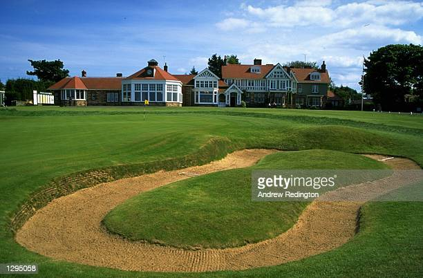 General view of the 18th green and clubhouse during the British Amateur Championship at Muirfield Golf Club in Scotland Mandatory Credit Andrew...