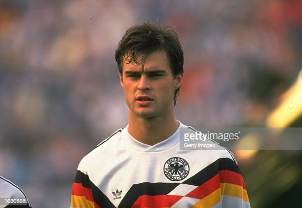 Portrait of Thomas Berthold of West Germany before the European Championship match against Italy at the Rheinstadion in Dusseldorf, West Germany. The...