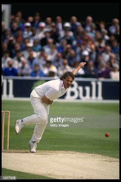 Ian Botham of Worcester bowling during the Benson and Hedges semifinal against Essex at Chelmsford Mandatory Credit Chris Cole/Allsport UK