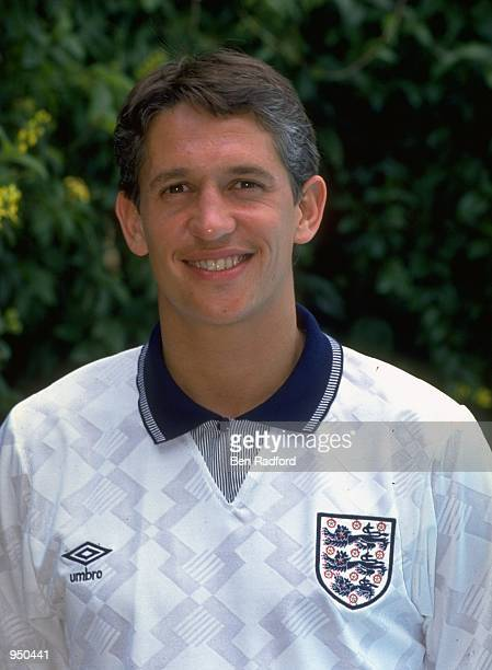 Portrait of Gary Lineker of England during their summer tour to New Zealand Mandatory Credit Ben Radford /Allsport