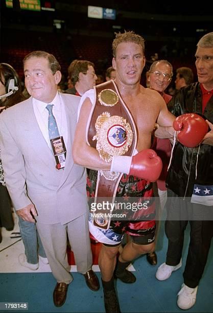 Tommy Morrison looks on after a bout against George Foreman in Las Vegas Nevada Mandatory Credit Mark Morrison /Allsport