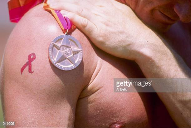 General view of athletes during the Gay Games at Downing Stadium in New York City New York Mandatory Credit Al Bello /Allsport