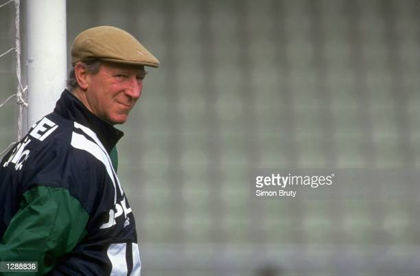 Portrait of Eire Manager Jack Charlton during a World Cup match in the USA Mandatory Credit Simon Bruty/Allsport