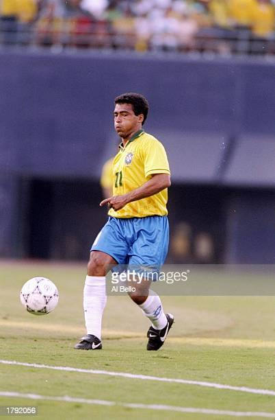 Romario of Brazil prepares to kick the ball during a game against Honduras at Jack Murphy Stadium in San Diego California Brazil won the game 82...