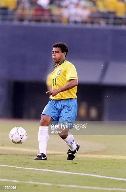 Romario of Brazil prepares to kick the ball during a game against Honduras at Jack Murphy Stadium in San Diego California Brazil won the game 82...