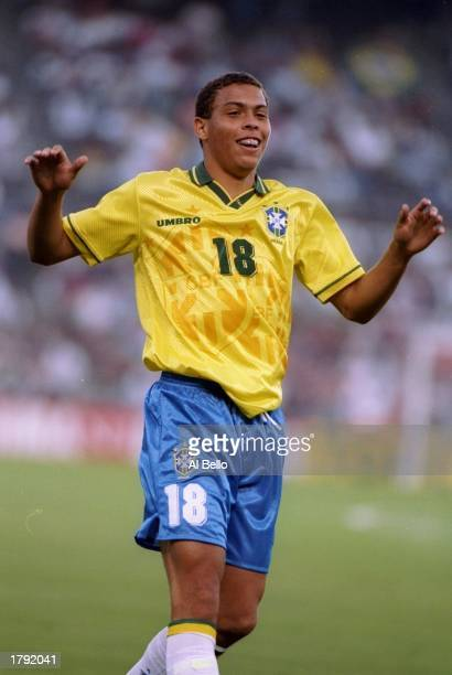 Ronaldo of Brazil in action during a game against Honduras at Jack Murphy Stadium in San Diego California Brazil won the game 82 Mandatory Credit Al...