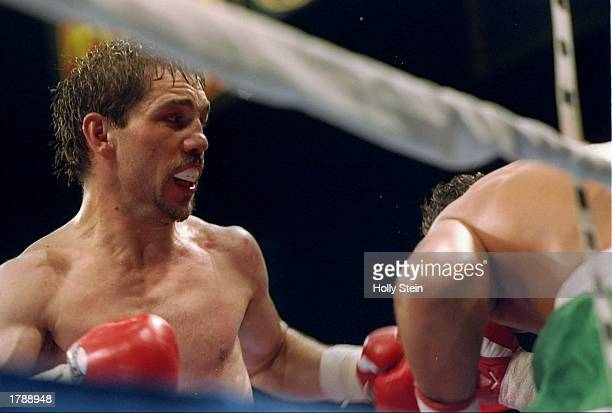 Tony Lopez in action during a bout against Greg Haugen in Las Vegas Nevada Mandatory Credit Holly Stein /Allsport
