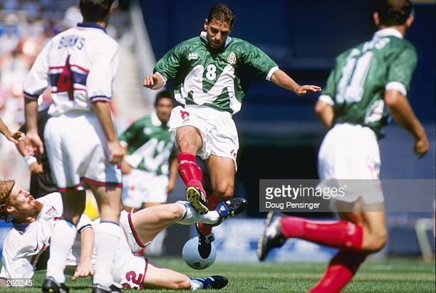 Alberto Garcia of Mexico runs down the field during a game against the USA at RFK Stadium in Washington DC The USA won the game 40 Mandatory Credit...
