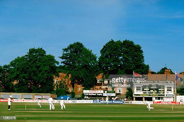 General view of play in the Natwest Trophy match between Northamptonshire and Holland at the County Ground in Northampton England Mandatory Credit...