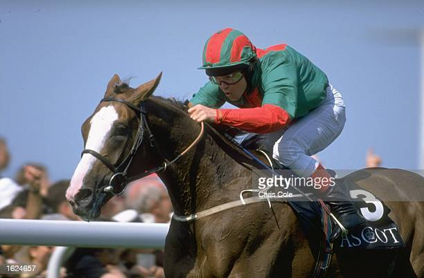 Jason Weaver on Double Trigger in action during the Gold Cup race on Day three of Royal Ascot week at Ascot racecourse in Ascot England Mandatory...