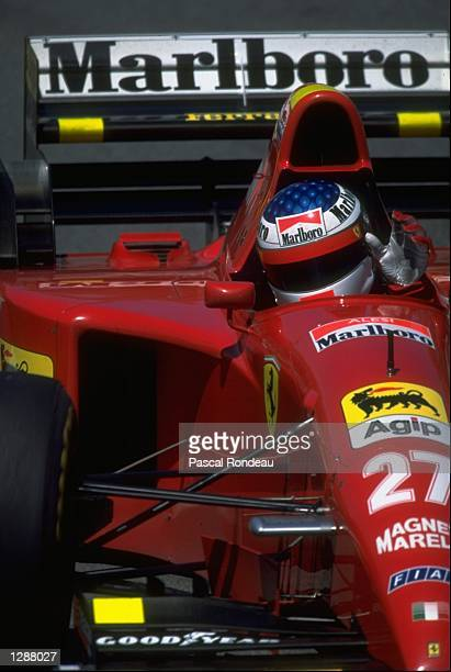 Jean Alesi of France takes his first Grand Prix victory for Ferrari during the Canadian Grand Prix at the Montreal circuit in Canada. \ Mandatory...
