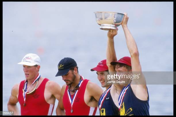 Members of the Men''s Coxless 2x, Gold Penn A.C. Rowing Associates at the US Rowing Championships in Lake Lanier, Georgia. Mandatory Credit: Jamie...