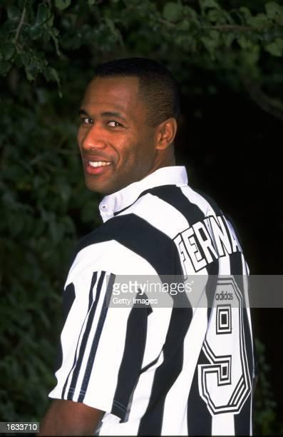 Portrait of Les Ferdinand of Newcastle United. \ Mandatory Credit: Allsport UK /Allsport