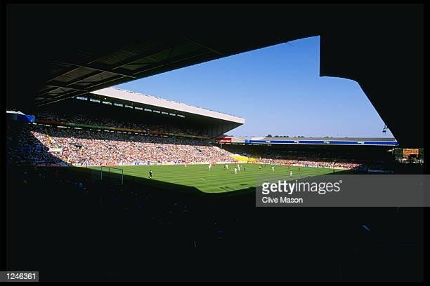A general view of the Group B match between France and Spain at Elland Road in the European Football Championships The result was a 11 draw