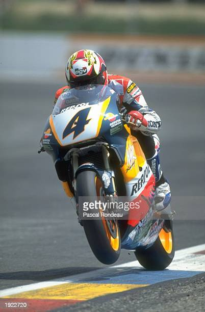 Alex Criville of Spain in action on his Honda during the French Grand Prix at the Paul Ricard circuit in Le Beausset France Criville finished in...