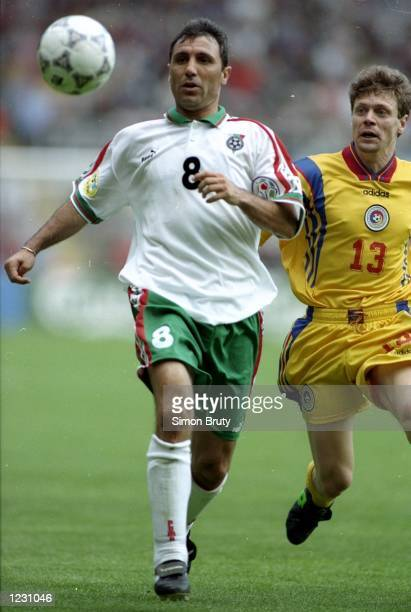 Hristo Stoichkov of Bulgaria in action during the Euro ''96 match against Romania at St James'' Park in Newcastle England Bulgaria won the match 10...