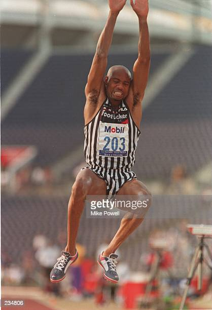 Mike Powell in action during the Long Jump Final at the US Olympic Team Trials held at Olympic Stadium at Atlanta Georgia