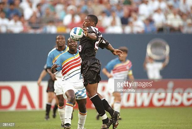 Rob Johnson of the New York/New Jersey MetroStars bumps the ball off his chest during the MetroStars 20 MLS win over the Kansas City Wiz at Giants...