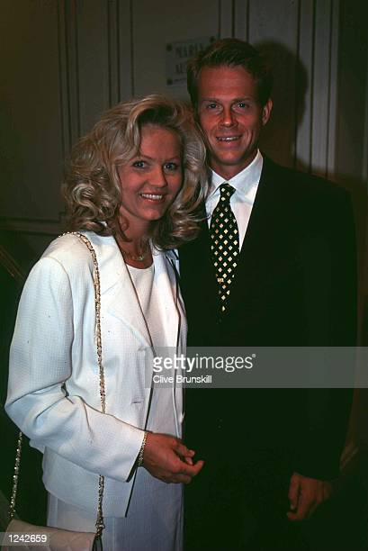 Stefan Edberg of Sweden and wife Annette pictured together at the ITF world champions dinner where Stefan was given a special award to mark his many...