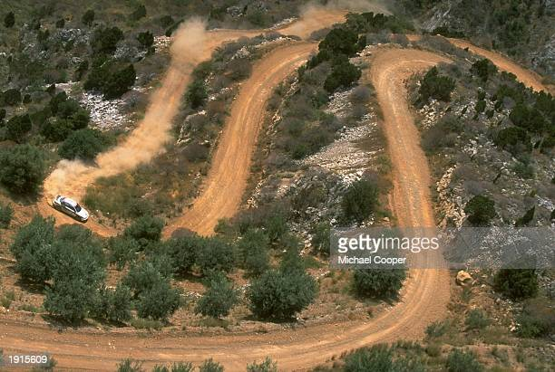 A general view of action in the mountains of the Acropolis Rally during the FIA World Rally Championships in Athens Greece Mandatory Credit Mike...