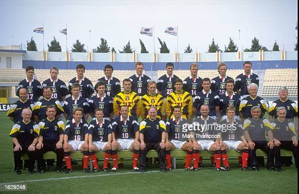 A group photograph of the Scottish Team before a Friendly match against Malta in Malta Scotland won the match 32 Mandatory Credit Mark...