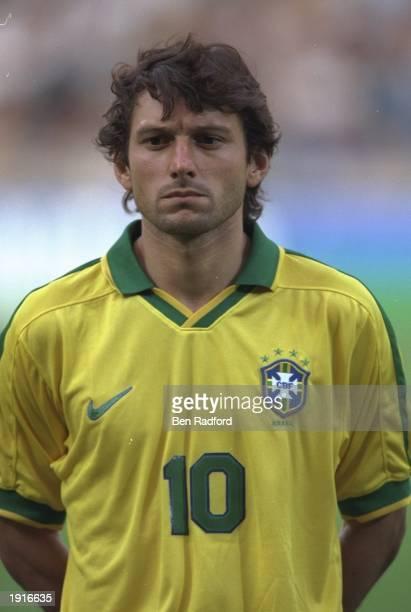 A portrait of Leonardo of Brazil before Le Tournoir match against France in Lyon France Mandatory Credit Ben Radford /Allsport