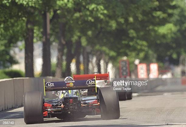 Andre Ribeiro of Brazil in the Lola Honda T97/00 for the Tasman Motorsports in action during the ITT Automotive Detroit Grand Prix at Bell Isle in...
