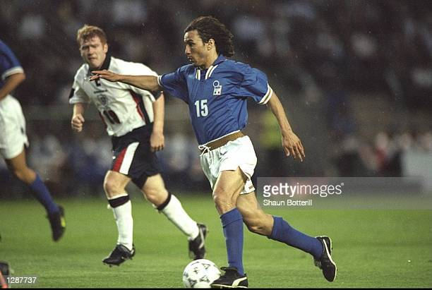 Antonio Benarrivo of Italy in action during a Tournoi de France match against England in Montpelier France England won the match 20 Mandatory Credit...