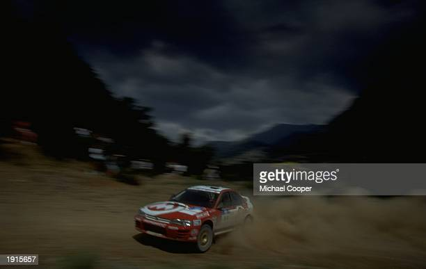 Aris Vovos of Greece driving his Subaru Impreza in the mountains of the Acropolis Rally during the FIA World Rally Championships in Athens Greece...