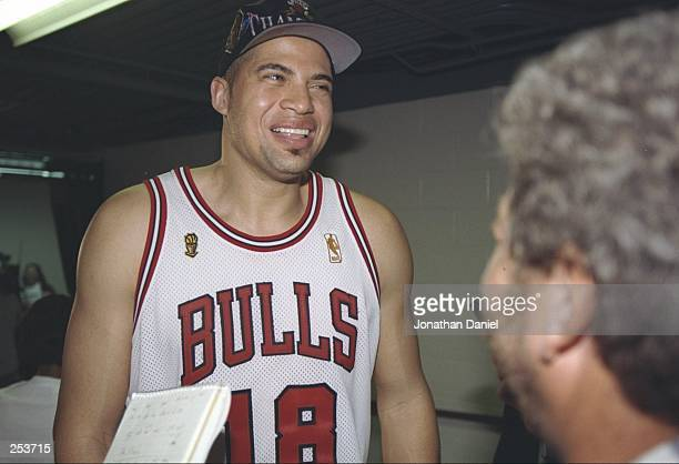Brian Williams of the Chicago Bulls walks to the locker room after the Bulls win game 6 of the 1997 NBA Finals at the United Center in Chicago...