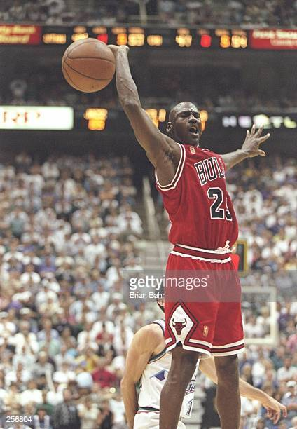 Michael Jordan of the Chicago Bulls in action during the Bulls 9088 win over the Utah Jazz in Game 5 of the NBA Finals at the Delta Center in Salt...
