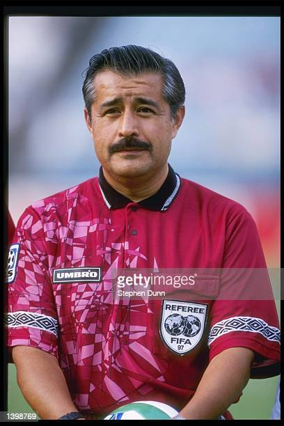 Referee Arturo Angeles looks on during a game between the Dallas Burn and the Kansas City Wizards at the Cotton Bowl in Dallas, Texas. The Wizards...