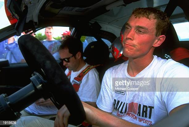 Richard Burns of Great Britain at the wheel of his Mitsubishi at the start of the Acropolis Rally during the FIA World Rally Championships in Athens...